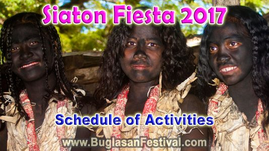 Siaton Fiesta 2017 – Schedule of Activities