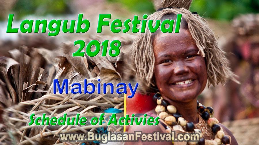 Langub Festival 2018 - Mabinay - Schedule of Activities