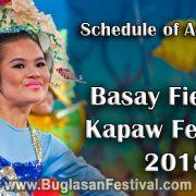 Basay Fiesta & Kapaw Festival 2018 - Schedule of Activities