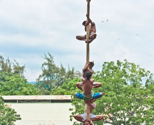 Pandanyag Festival - Pole Climbing