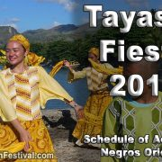 Tayasan Fiesta 2018 - Negros Oriental - Schedule of Activities