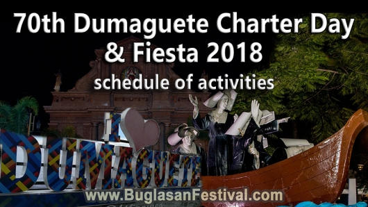 70th Dumaguete Charter Day and Fiesta 2018 – Schedule