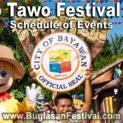 Tawo Tawo Festival 2019 - Schedule of Events