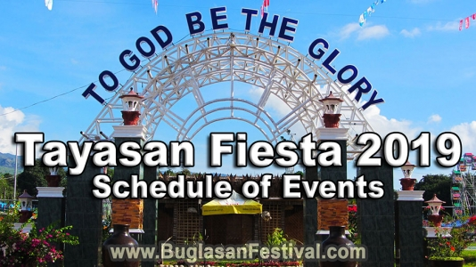Tayasan Fiesta 2019 – Schedule of Events