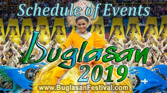 Buglasan 2019 – Schedule