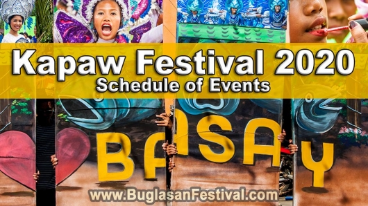 Kapaw Festival 2020 – Basay – Schedule of Events