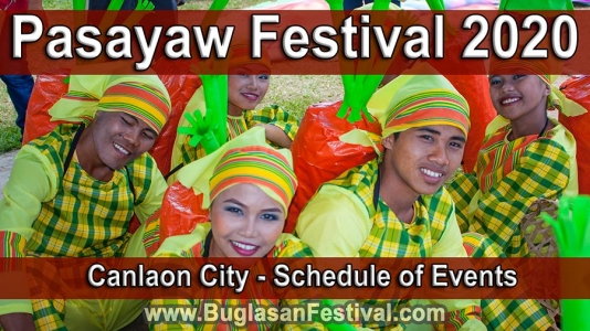 Pasayaw Festival 2020 – Canlaon City – Schedule of Events